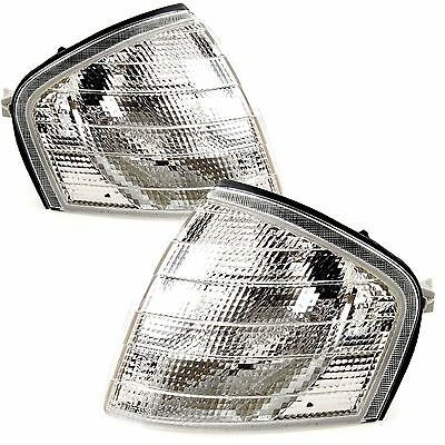 Mercedes Benz C Class W202 1993-2001 Front Indicators Clear 1 Pair O/S & N/S