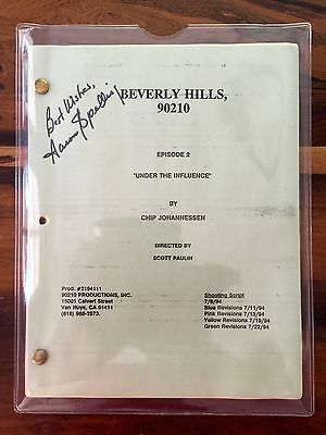 Original Script Beverly Hills 90210 Signed By The Late Aaron Spelling + Letter!