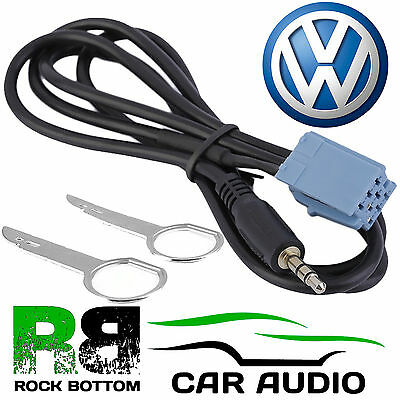 VW Beta Factory Fitted Car MP3 iPod iPhone Aux In Input 3.5mm Jack Cable