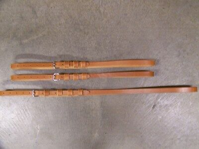 LEATHER LUGGAGE STRAPS for LUGGAGE RACK/CARRIER~~3 SET~3/4 IN. WIDE~HONEY~S.S.