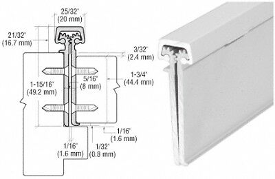 "Satin Anodized 83"" Roton 224 Concealed Leaf Hinge w/ Lip for 1-3/4"" Entry Door"