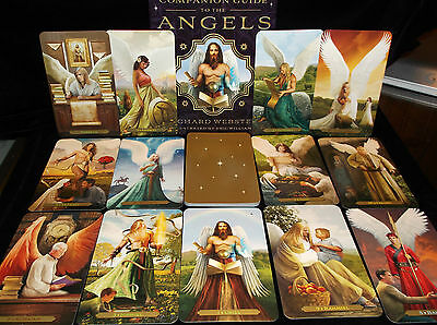 Brand New! Angels Oracle Cards & Book Set Connect To Angelic Realms Open For Pic