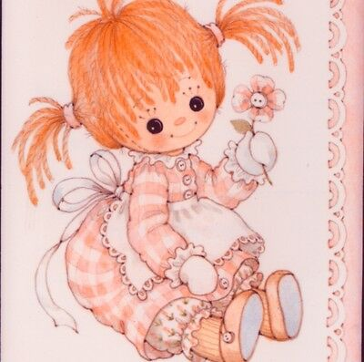 "Mint..! Collectible Birth Announcement,""she's As Cute As A Button"".greeting Card"