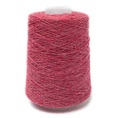 200G Dark Pink / Grey Mix 2/11Nm Lambswool Yarn Red Clover
