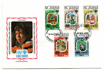 1980 NICARAGUA Scarce Literacy Year unissued Stamps overprinted FDCs