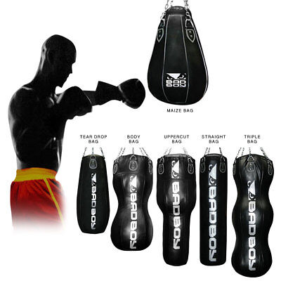 BadBoy Punch Bags, Maize Tear Drop Body,Triple, Uppercut MMA Pad MuayThai Angle