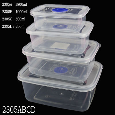 Small Medium Large Size Plastic Clear Storage Food Box Container With Lid 2016