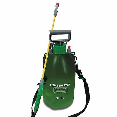 5 Litre Fence Shed Decking Pressure Sprayer Pump Wood Stain Treatment Weedkiller