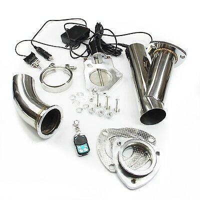 """STAINLESS UNIVERSAL EXHAUST CUTOUT-OUT VALVE E-CUT KIT REMOTE 2.5"""" / 63,5 mm"""