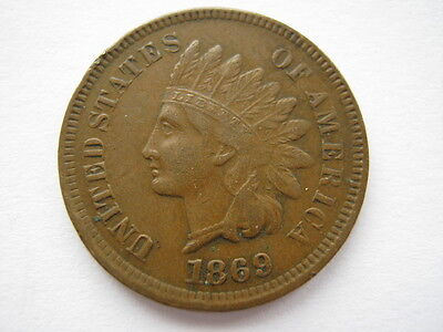 United States 1869 Indian Head Cent VF