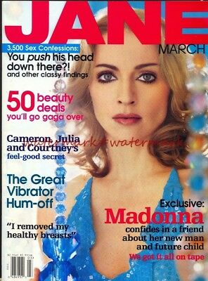 MADONNA - Multi-Page Photo Feature in USA JANE Magazine, March 2000