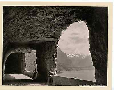 Photoglob. Suisse, Axenstrasse Gallerie & Bristenstock  Vintage Photomechanical,