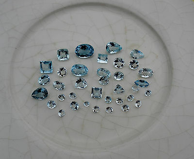 Aquamarine natural gem mix loose faceted parcel lot over 10 carats