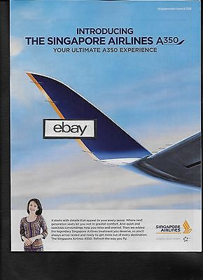 Singapore Airlines Introducing The Airbus A350 Your Ultimate A350 Experience Ad