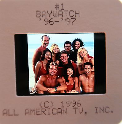 BAYWATCH STARRING David Hasselhoff PAMELA ANDERSON  ORIGINAL SLIDE 2