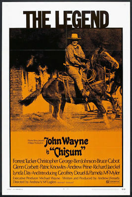CHISUM original 1970 27x41 one sheet movie poster JOHN WAYNE