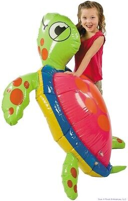 5 FOOT GIANT INFLATABLE SEA TURTLE - Birthday Party Pool Beach SummerToy Fun