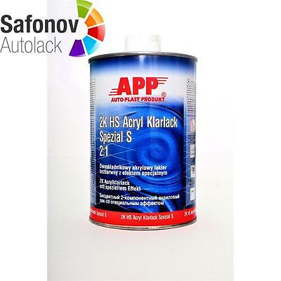 APP 2K HS Clear varnish special S (anti scratch with Effect)2:1 1 Liter 020109
