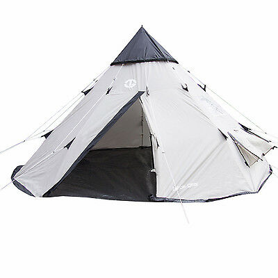 Tahoe Gear Bighorn 4 Person 10 Foot Teepee Shaped Removable Floor Camping Tent