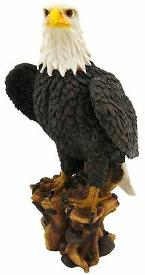 "Large 17"" Tall American Pride Bald Eagle Sculpture Figurine Statue Bird Kingdom"