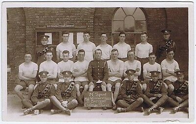 British Army Artillery Soldiers RP Postcard 1923