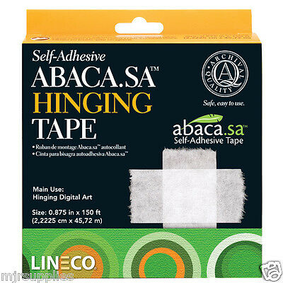 Lineco Archival Quality Abaca Self-Adhesive Hinging Tape Inkjet print mounting