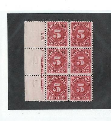 U.s. Postage Due Plate Block  J55   Price Reduced