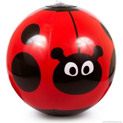 (12) Red Ladybug Inflatable Vinyl Blow Up Beach Balls ~ Pool Party Toy Favors