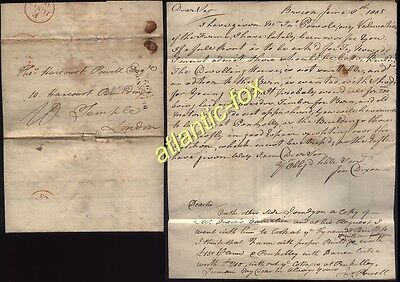 1805 BRECKNOCK/192 letter Dixon & Powell with Document Penkelly, Canal Land etc.