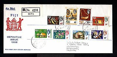 9211-FIJI-AIRMAIL FDC REGISTERED COVER SUVA to LIVERPOOL(england)1968.BRITISH
