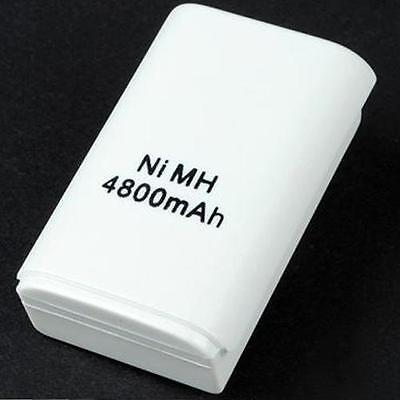 4800mAH Rechargeable Battery Pack For XBOX 360 Wireless Controller White Replace