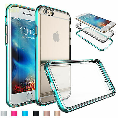 Armor Pc Frame Bumper Clear Back Tpu Case Skin For Iphone 6 6s 6s