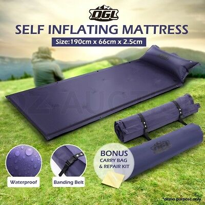 Air Bed Self Inflating Mattress Joinable Inflatable Camping Foldable Hiking Mat