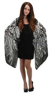 Feather Wings Lightweight Scarf Festival Steampunk EDM Black