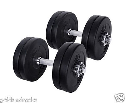 NEW 15KG Dumbbell Weight training Set Adjustable with pro spin lock weights