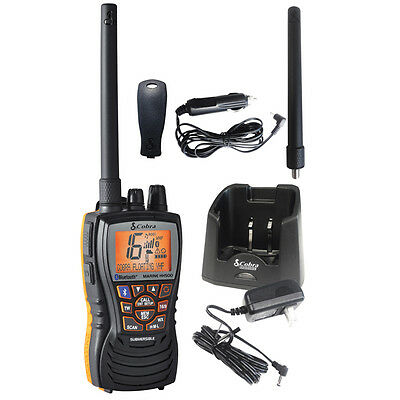 Cobra 6 Watt Floating VHF Radio with Bluetooth NOAA Marine Boat Compact Quality
