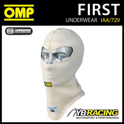 Omp Racing Iaa/729/S Adult Small Fit Open Face Balaclava (Cream) Fireproof
