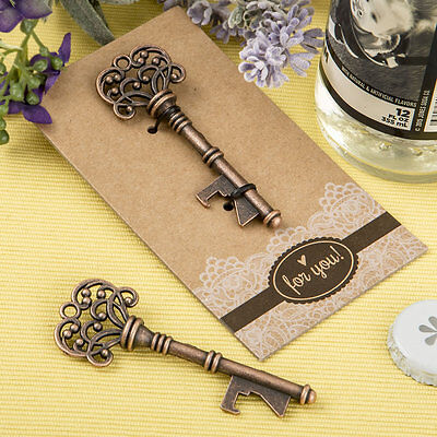 50 Copper skeleton key bottle opener Wedding Favors Bridal Shower Favor Vintage