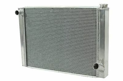 "Dirt Oval All Aluminum Racing Radiator 19""x27 1/2"" Chevy 2 Row Single Pass IMCA"