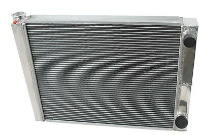 "New Dirt Oval All Aluminum Racing Radiator 19""x27 1/2"" 2 Row Double Pass IMCA"