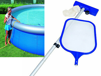 "84"" Swimming Paddling Pool Spa Maintenance Cleaning Kit Net And Vacuum Skimmer"