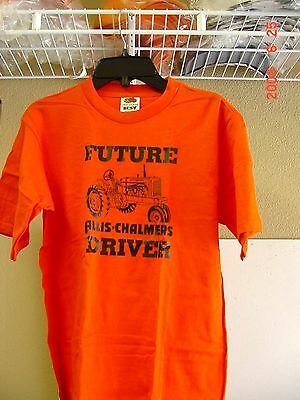 """Allis Chalmers Child Youth Tractor T-Shirt, """"future Driver"""" , New, Size 14/16"""
