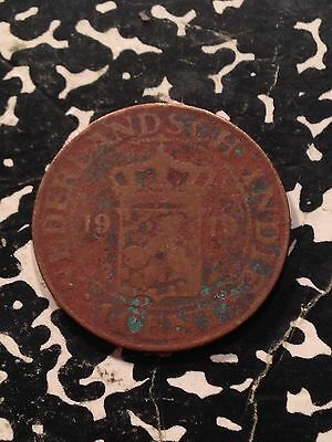 1919 Netherlands East Indies 1 Cent Lot#X2344 Low Grade