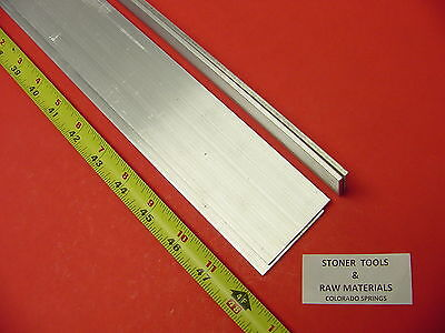 "4 Pieces 1/8""x 2"" ALUMINUM 6061 FLAT BAR 48"" long .125"" Plate New Mill Stock 16'"