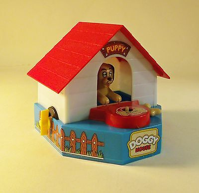 Doggy Dog House Coin Stealing Wind Up Mechanical Bank