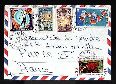 9216-POLYNESIA FRANÇAISE-AIRMAIL COVER PAPEETE to paris (FRANCE) 1973.French