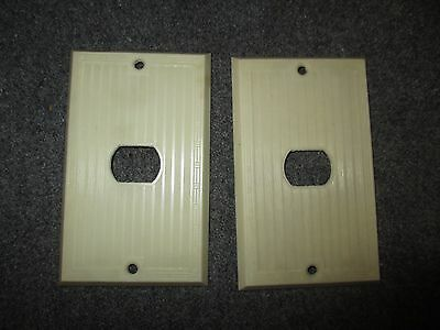 Vintage Bryant Despard System Bakelite Mcm Era One Gang Switchplate Cover White