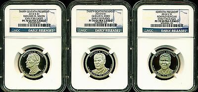 2016 S Ngc Pf70 Er Ultra Cameo Annual 3 Coin Proof Presidential Dollar Set Blue