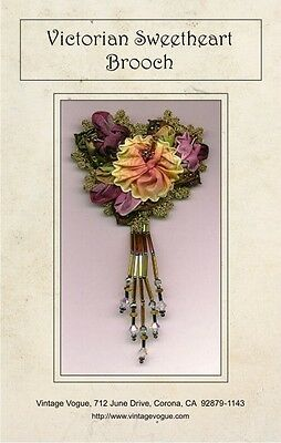 Victorian Sweetheart Brooch - Pattern by Janet Stauffacher - French Wired Ribbon