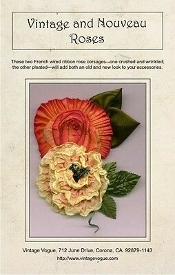 Vintage & Nouveau Roses - Pattern by Janet Stauffacher - French Wired Ribbon